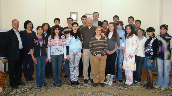 Michael and Marie Haratunians with Gulamerian Scholarship recipients