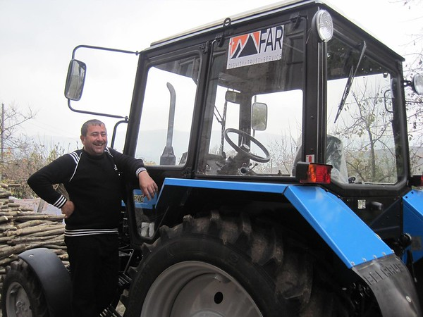 FAR has provided two new Belarus tractors to Chinchin and Paravakar villages in Berd.