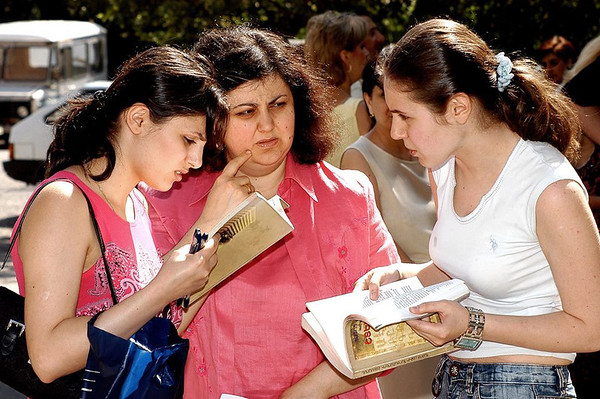 Preparing for university admissions exams in Yerevan
