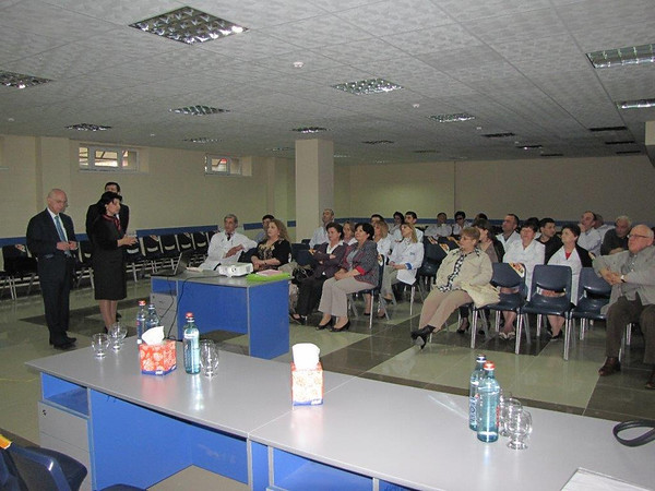 Dr. Bilezikian in the Gyumri Medical Center