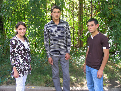 FAR Scholars from Tavush, Liana Terzikyan, Daughter of Vartan - Anahid Chapter scholarship recipient (2011), Avetik Nersisyan, and Tigran Tjughuryan, Mathevosian scholars (left to right)