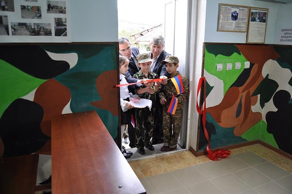 The opening of the Military Training Classroom at Berd's No. 1 School   was especially touching.